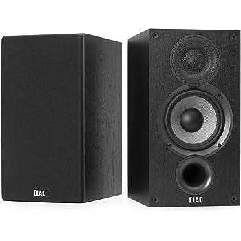 ELAC Debut 2.0 B5.2 Bookshelf Speakers, Black (Pair)