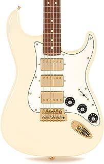 fender stratocaster white and gold