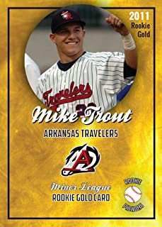 MIKE TROUT ROOKIE GOLD CARDS 2011 MINOR LEAGUE ARKANSAS TRAVELERS