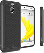 HTC Bolt Hard Case, HTC 10 Evo Case, CoverON HexaGuard Series Protective Hybrid Hard Phone Cover for HTC Bolt / 10 Evo - Black