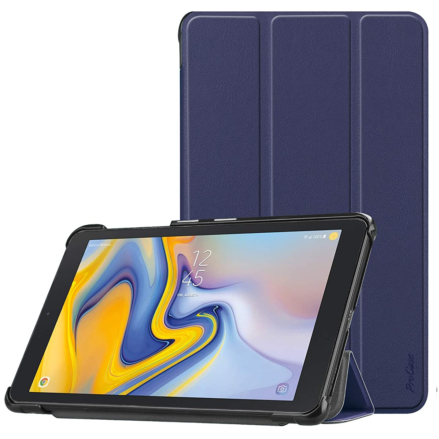 ProCase Verizon Sprint Galaxy Tab A 8.0 Case 2018 SM-T387, Slim Light Protective Cover Stand Hard Shell for Galaxy Tab A 8.0-Inch 4G LTE Tablet Sprint/Verizon/T-Mobile/AT&T 2018 Release -Navy
