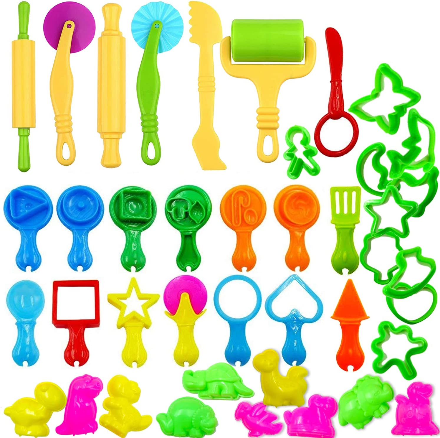 45 Pieces Lowest Long-awaited price challenge Clay Dough Tools Kit w Extrud Animal Shapes with