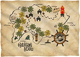 Gilligan's Island Island Map Pillow Case (Front/Back Print)