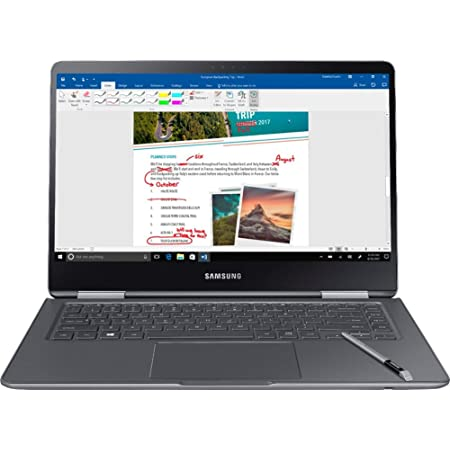 """Samsung Notebook 9 Pro NP940X5N-X01US 15"""" FHD 2-in-1 Touch Screen Laptop, 8th Gen Intel Quad-Core i7-8550U Up To 4GHz, 16GB DDR4, 256GB SSD, Backlit Keyboard, Windows 10, Built-in S Pen, Titan Silver"""