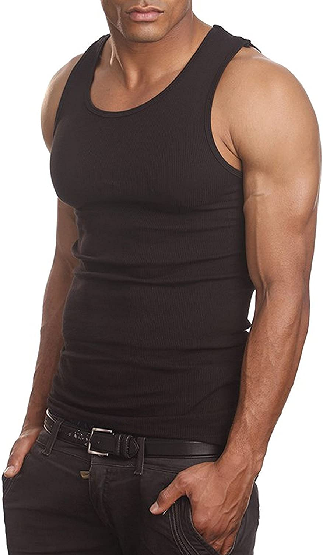 Mens A-Shirts 3 Pack Undershirt