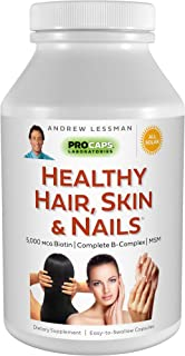 Andrew Lessman Healthy Hair, Skin & Nails 360 Capsules – 5000 mcg High Bioactivity Biotin, MSM, Full B-Complex Promotes Be...