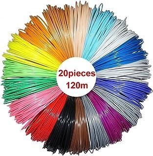 RP3DPLA620 Filamentos de Recambio para Plumas 3D, Filamentos para Lápiz 3D de 1,75mm, 20 Colores Diferentes de 6 Metros ada uno, 120 Metros en Total