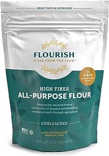 Flourish Fiber from the Farm - High Fiber/ Low Carb, Unbleached All Purpose Flour, 2 lbs