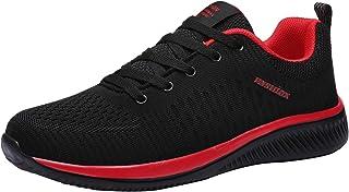 [DUKLUCAK] スニーカー メンズ レディース 厚底 男女兼用 ランニングシューズ ウォーキングシューズ 超軽量 通気性 防滑 クッション性 運動靴 ジョギング トレーニング スポーツ 大きいサイズ 黒 ブラック