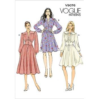talla AA: 36-42 Patrones de costura para vestidos de mujer Vogue Patterns V8630