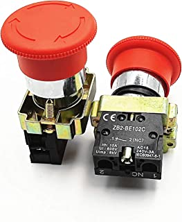 1PCS NC Latching Red Sign Mushroom Emergency Stop Push Button Switch