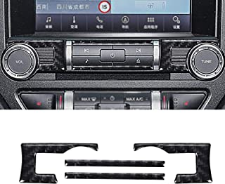 YAMUDA Compatible with 4PCS Carbon Fiber Sticker Car Central Control Navigation Air Conditioning Panel Accessories for For...