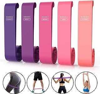 ValueTalks Bandas Elásticas Fitness con 5 Niveles de Resistencia Fitness Cintas Elásticas para Yoga Pilates Musculación Estiramientos y Fuerza