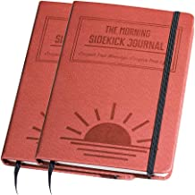 Bundle - Two Red Morning Sidekick Journals. Morning Habit Tracker! A Science Driven Daily Planner for Building Positive Life Habits