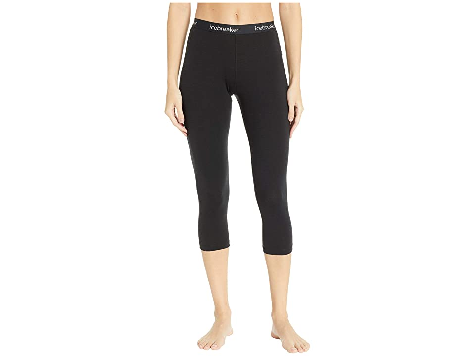 Icebreaker 150 Zone Merino Base Layer Legless (Black/Mineral) Women
