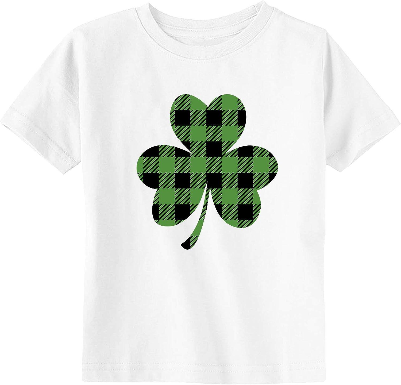 Little Spunkies Plaid Shamrock St. Patrick's Day Toddler Youth T-Shirt