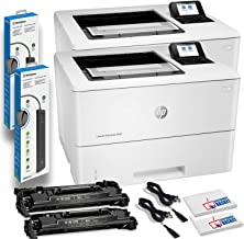 $939 » 2 x HP Laserjet Enterprise M507dn Monochrome Laser Printers with Duplex Printing (1PV87A) with 2 x Power Strip Surge Prote...