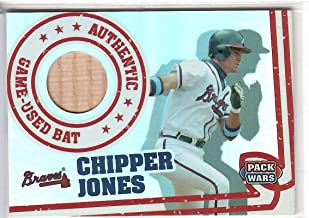 2005 Topps Pack Wars Baseball Chipper Jones Game Used Bat Card # PWR-CJB