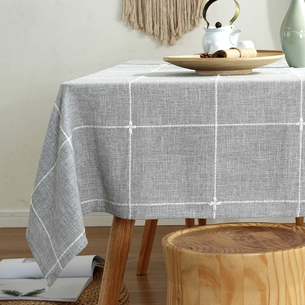 TruDelve Heavy Sacramento Mall Duty Cotton Linen Max 48% OFF for Cloth Table Rectangle