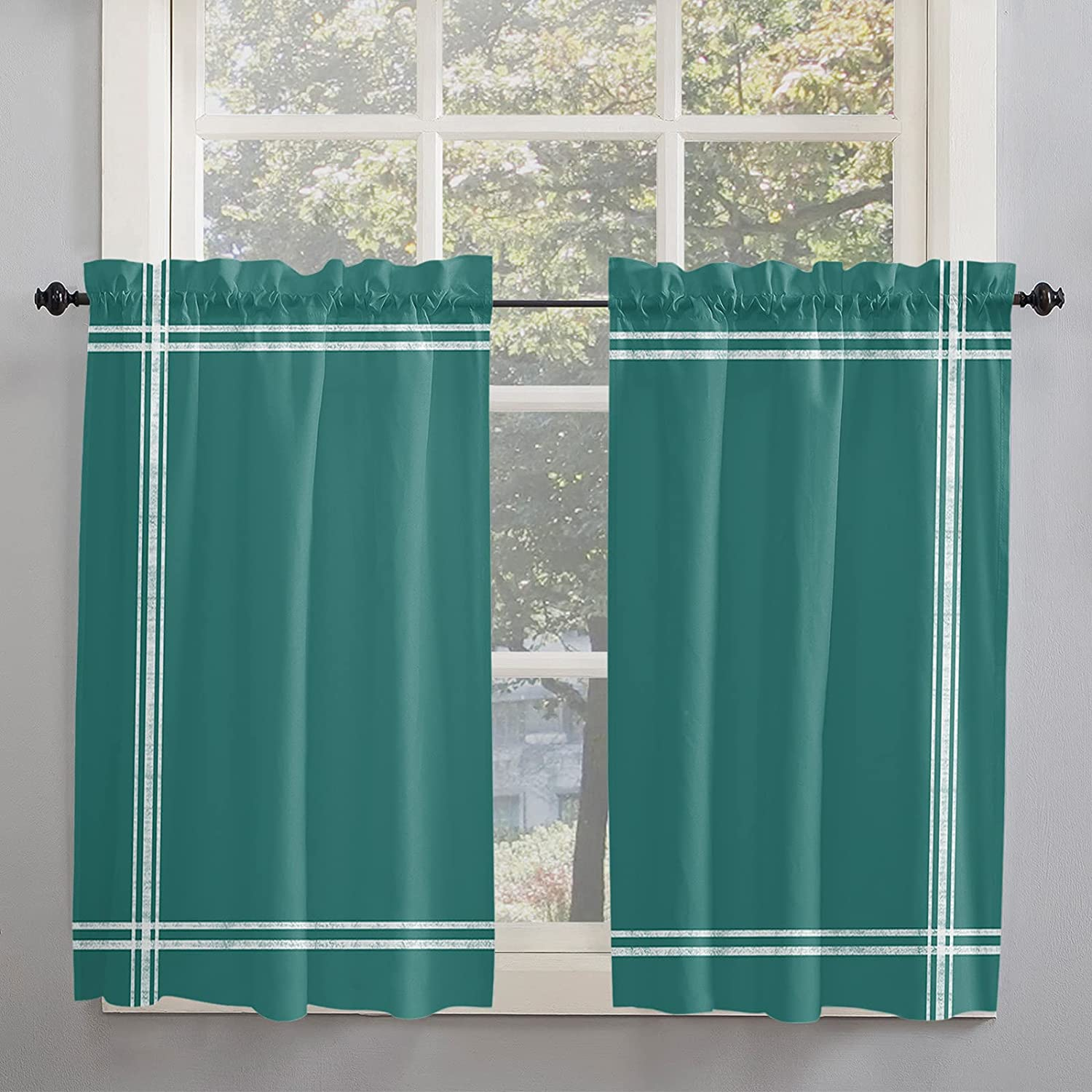 Minimalist Solid Color Kitchen specialty shop Branded goods Curtains Inch for Windo Length 45