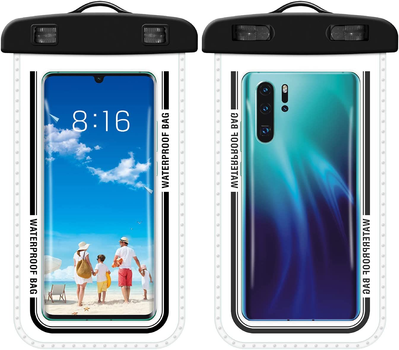 Exte Haning Neck Mobile Phone Waterproof Bag Diving Case Transparent Swimming Pool Smartphone Sealed Pouch
