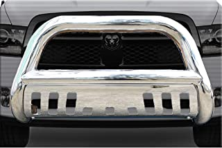 Span Bull Bar Skid Plate Front Push Bumper Grille Guard Stainless Steel Chrome for 2009-2018 Dodge Ram 1500