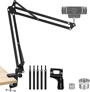 InnoGear Webcam Stand, Suspension Boom Scissor Arm Stand for Logitech Webcam BRIO C920 C920S C922 C922x C925e C930 C930e, ...