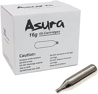 Asura 16 Gram CO2 Threaded Cartridges 20 Count