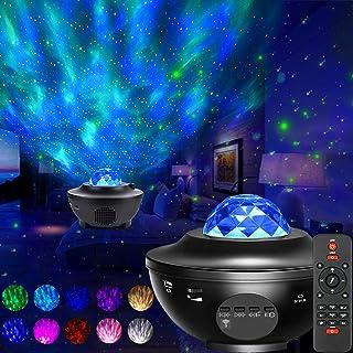 【2021最新版&2in1投影効果】Yashashiスタープロジェクターライト ベッドサイドランプ 投影ランプ プラネタリウム Bluetooth5.0/USBメモリに対応 21種点灯モード タイマー機能付き 音声制御 輝度/音量調整可 ロマン...