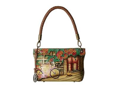 Anuschka Handbags 634 Medium Shoulder Bag (Vintage Bike) Handbags