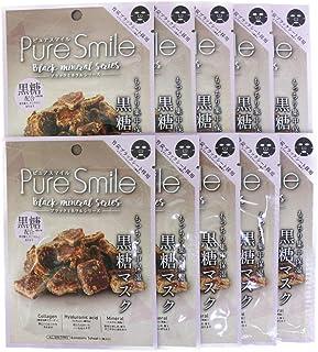 Pure Smile ピュアスマイル ブラックミネラルエッセンスマスク BM03 黒糖 10枚セット