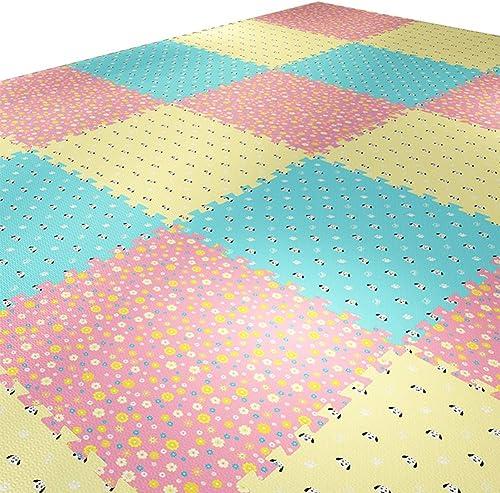 se descuenta HLMIN Alfombra Bebé Gateando azulejos azulejos azulejos Entrelazados Alfombra del Piso Fronteras Animal Grueso Grande (Color   A, Talla   60cmx60cmx1cm-4pcs)  producto de calidad