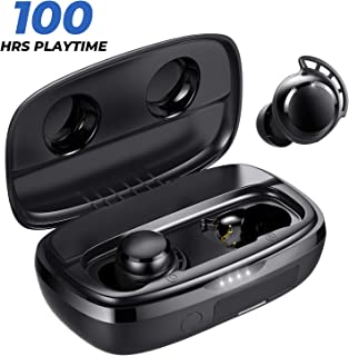 Tribit FlyBuds 3 Wireless Earbuds - 100H Playtime 2600mAh Charging Case IPX7 Waterproof USB-C Touch Control Bluetooth 5.0 Earbuds Deep Bass - True Wireless Earbuds with Mic for Sport Travel, Black