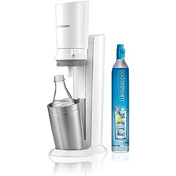 Sodastream Crystal Bianco, Gasatore d'Acqua Frizzante, Bottiglia in Vetro
