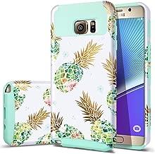 Fingic Galaxy S7 Edge Case, Samsung Galaxy S7 Edge Case Pineapple Slim Cute Design Summer Dandelion Hard PC Soft Rubber Anti-Scratch Protective Case for Women Girls for Samsung S7 Edge,Pineapple&Green