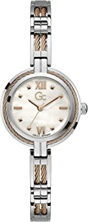 Gc Womens Quartz Watch, Analog Display And Stainless Steel Strap - Y39003L1MF