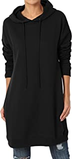S~3X Loose Fit Pocket Pullover OR Zip Up Hoodie Long Tunic Sweatshirts