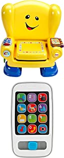 Fisher-Price Laugh & Learn Smart Stages Chair Bundled Laugh & Learn Smart Phone, White