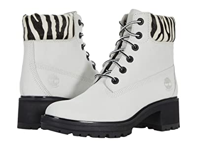 Timberland Kinsley 6 Waterproof Boot (White Nubuck) Women