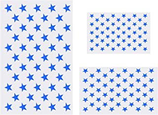 American Flag 50 Stars Stencil for Painting on Wood, Fabric, Paper, Airbrush, Walls Art (1 Large, 1 Medium, 1 Small)