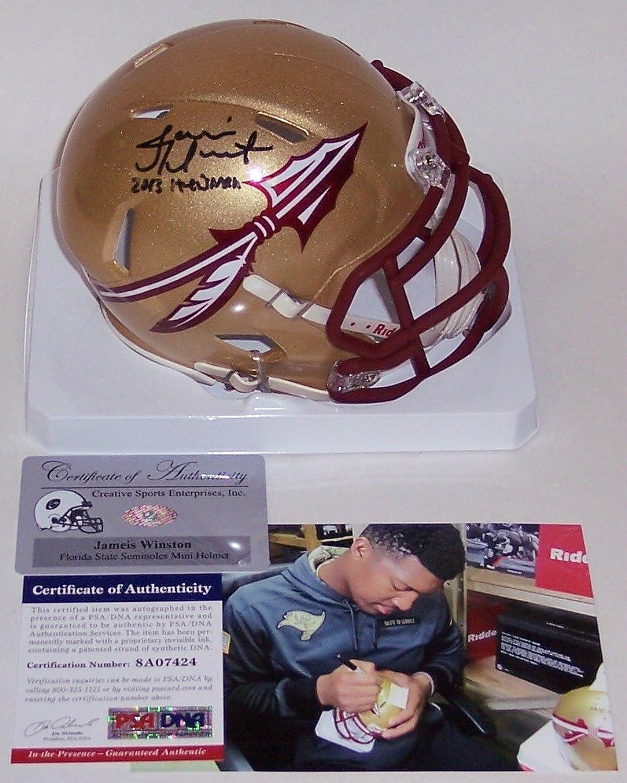 Jameis Winston Autographed Hand Florida State Seminoles Speed Mini HelmetPSA DNA