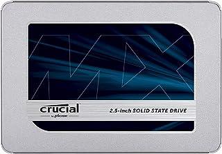 Crucial MX500 500GB CT500MX500SSD1 SSD Interno-fino a 560 MB/s, 3D NAND, SATA, 2.5 Pollici, Metallico