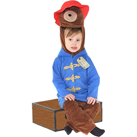 Deluxe Official Childrens Paddington Bear Fancy Dress Costume World Book Day 3-4 Years