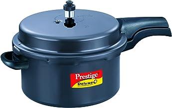 Prestige Deluxe Plus Hard Anodized Pressure Cooker, 7.5-Liter