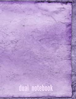 Purple Haze: Dual Composition Notebook Blank and Lined