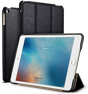 iPad Mini 5 Case, ICARER Vintage Series Genuine Leather Folio Flip Smart Cover with Auto Wake/Sleep Function [Magnetic Lat...