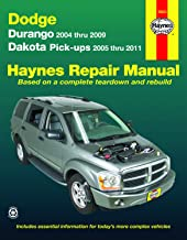 Dodge Durango (04-09) & Dakota (05-11) Pick-ups Haynes Repair Manual (Does not include information specific to hybrid models. Includes vehicle coverage apart from the specific exclusion noted)