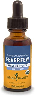 Herb Pharm Certified Organic Feverfew Liquid Extract for Minor Pain Support - 1 Ounce