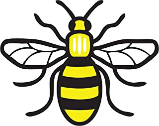Manchester Bee Car Sticker Full Colour Manchester Worker Bee