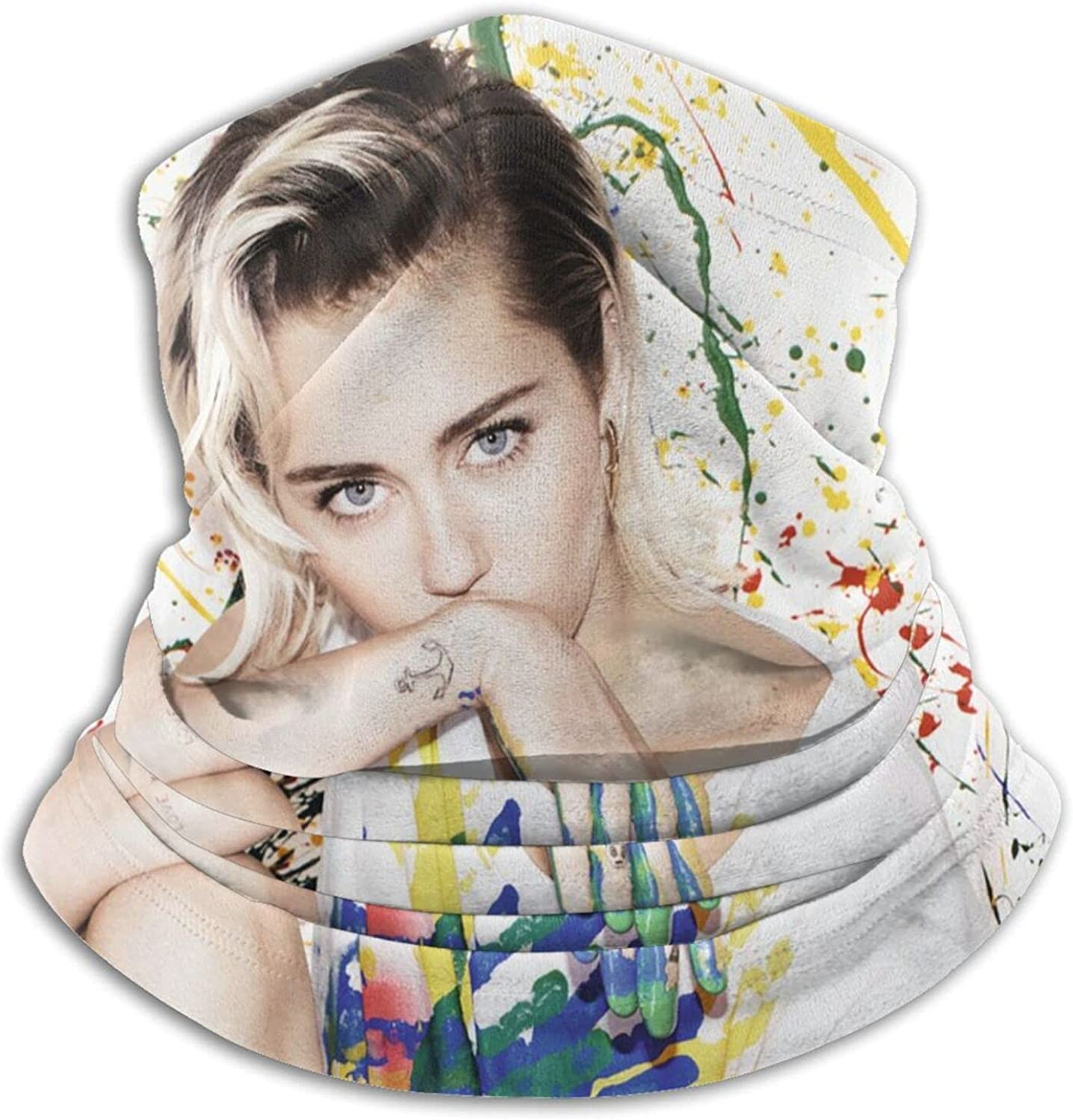 Miley Cyrus Unisex Neck Gaiter Face Mask Men Woman Multifunction Balaclava Face Cover,Cycling Mask,Sport Neck Gaiter,Hiking Scarf,Fishing Mask,Sunscreen Breathable Bandana, Motorcycle Face Cover